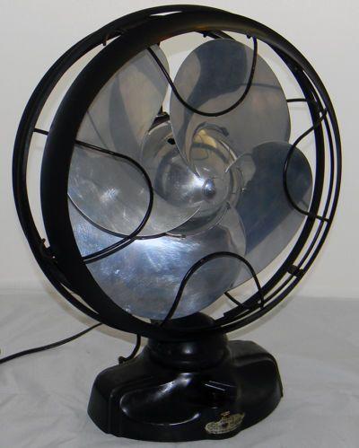 1934 Orginal Antique Emerson Silver Swan 12 inch Blade Art Deco Electric Fan | eBay