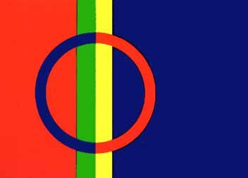 The Sami flag was introduced in 1986. It is used in all four countries where the Sami live: Norway, Sweden, Finland and Russia