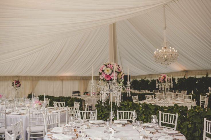 Glamorous Wedding at Craggy Range  photo by @heatherliddell florals by @magdalenhill  #nzwedding #hawkesbaywedding #weddingsetup #receptionsetup #crystalcandelabras #weddinghire