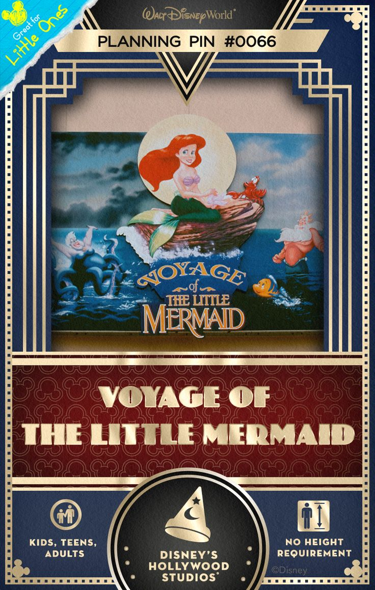 Walt Disney World Planning Pins: Celebrate highlights of the animated musical film, The Little Mermaid, at this 15-minute puppetry extravaganza!