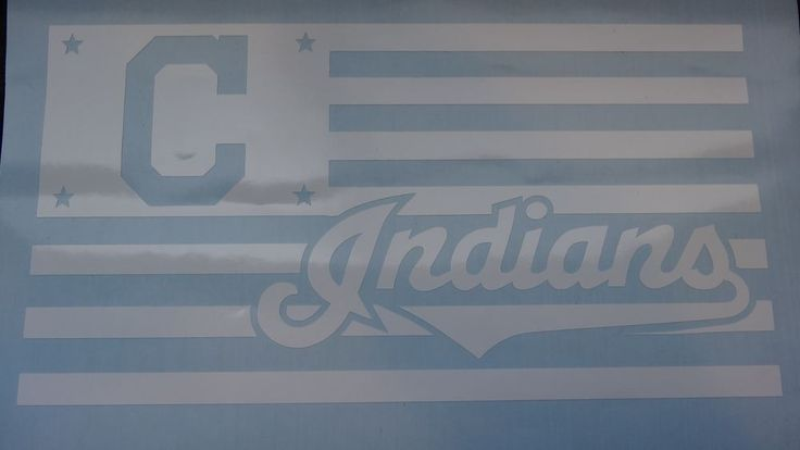 Cleveland Indians Flag car decal