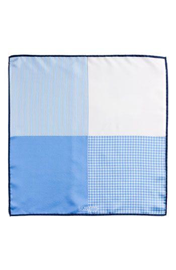 $39, Light Blue Polka Dot Pocket Square: J.Z. Richards Silk Pocket Square Blue One Size. Sold by Nordstrom. Click for more info: https://lookastic.com/men/shop_items/98260/redirect
