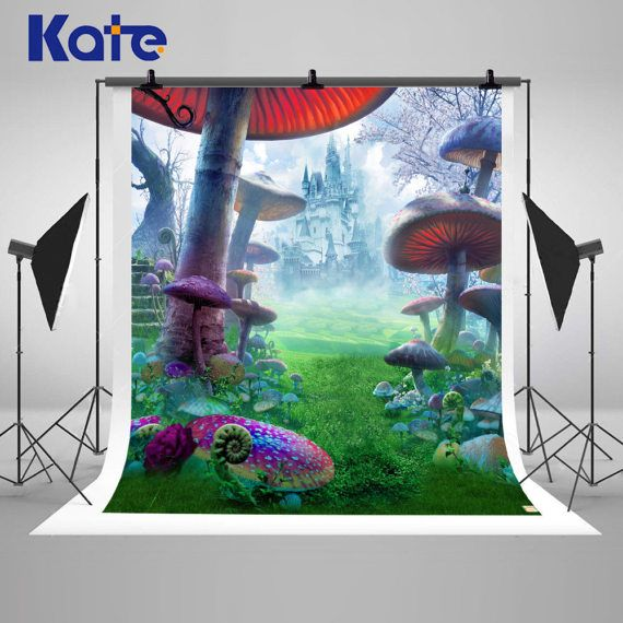 Wonderland Castle Mushroom Photography Backdrops by katehome2014
