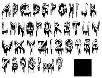 Best 25 Letras de terror ideas on Pinterest  Alfabeto burbuja