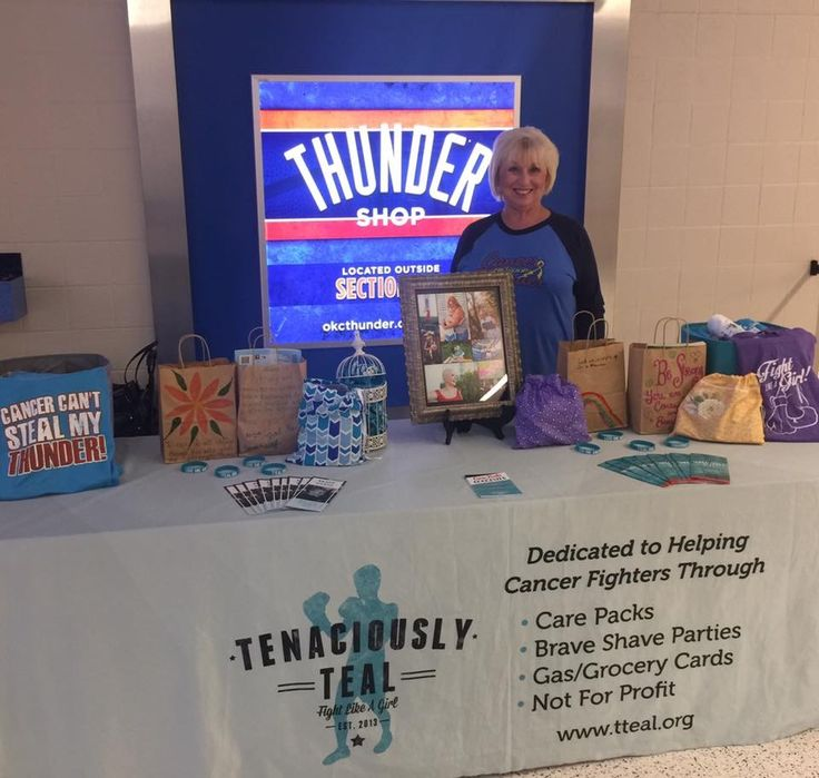 If you're headed to the OKC Thunder game tonight come see us outside section 112! #TTeal #CancerCantStealMyThunder 🏀