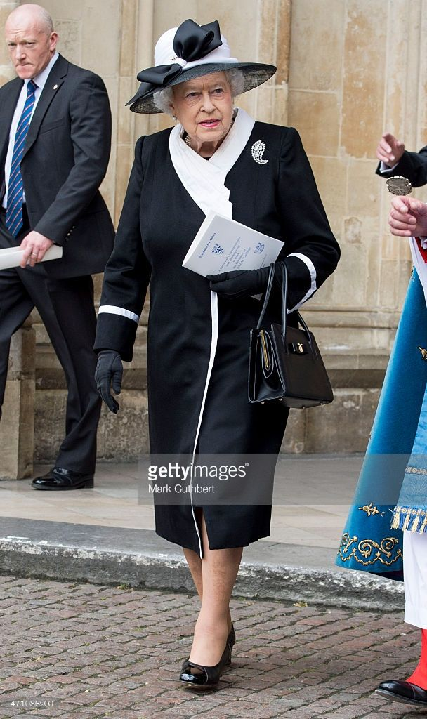 Queen Elizabeth II attends a Service of Commemoration and Thanksgiving to mark…