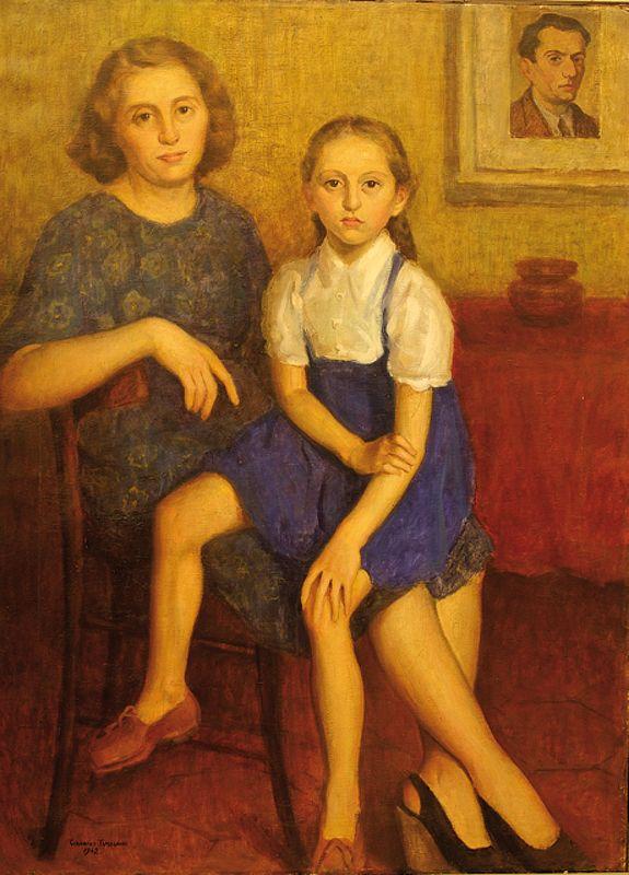 1942.08.01 Giannino Tamagnini, Pia e Angela, Olio su tela, Musei Civici di Reggio Emilia