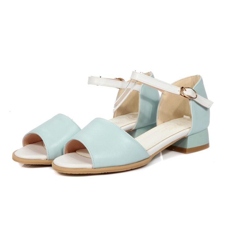 50.00$  Buy here - http://alijeu.worldwells.pw/go.php?t=32682306969 - Tenis Feminino Promotion fashion Plus Big Size34-47 Shoes Women Sandals 2016 Sapato Feminino Summer Style Chaussure Femme 9397  50.00$