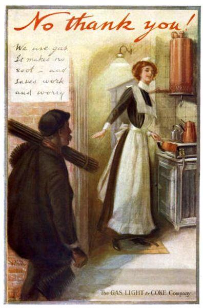"Gas Light & Coke Company, 1912 ""We use gas - it makes no soot"""