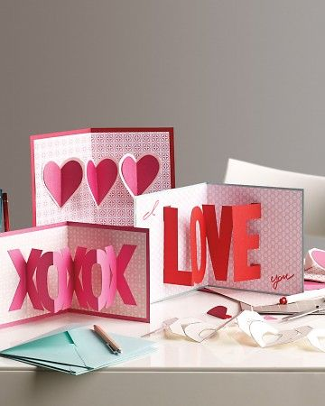 Printable templates for making 3d pop-up valentines - love it!