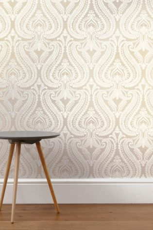 Buy Pearl Scroll Wallpaper from the Next UK online shop