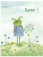 Danke - Frösche Postkarte