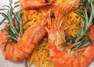 Risotto au champagne et gambas au Cooking Chef