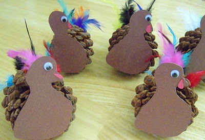 Pinecone turkey- perfect activity to do with Ethan!