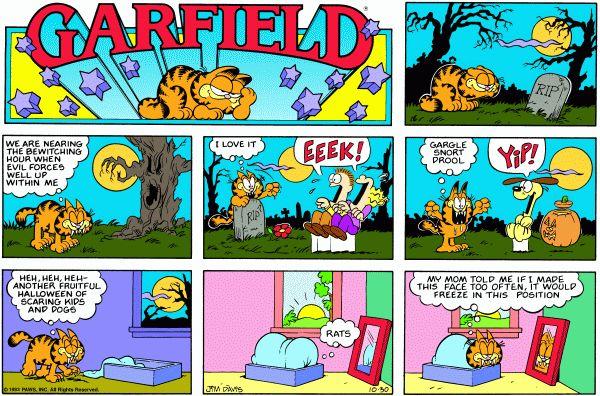 The Yellow Wallpaper Character Quotes Garfield Halloween Zits Comic Garfield Cartoon