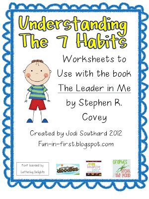 Free printable I Love the 7 Habits of Highly Effective People, really changed my thinking. I want my kids to have a chance to start those habits early!
