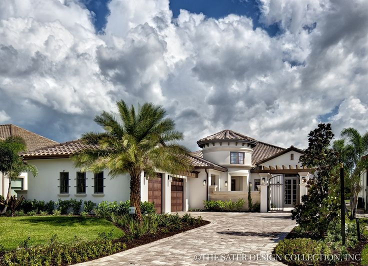 House Plans With Front Courtyards Part - 20: EPlans Mediterranean House Plan U2013 Old World Courtyard Villau2013 3433 Square  Feet And 3 Bedrooms · Courtyard House PlansFront ...