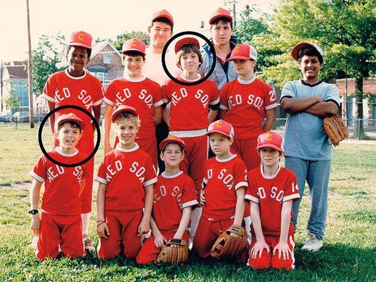 Little league photo, circa 1983.  Top circle: Ben Affleck Bottom circle: Casey Affleck