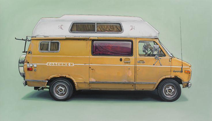 http://www.kevincyr.net #painting #car #van