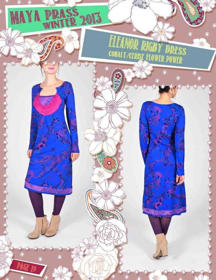 Eleanor-Rigby dress cobalt Flower Power