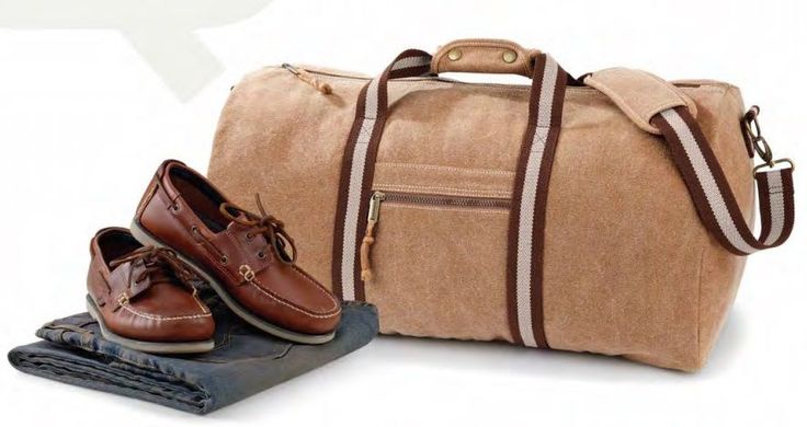 QUADRA Borsa uomo donna borsone Desert viaggio cotone tela Canvas moda vintage
