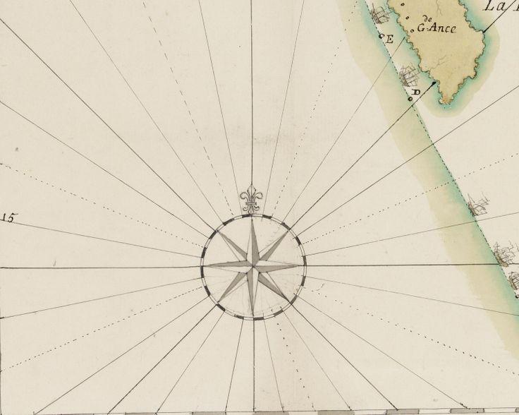 Carte d'une expédition navale ( 1782 ). 1 retombe Archives nationales,  C/7/103/38/46 © Archives Nationales (France) \ Pierre Grand