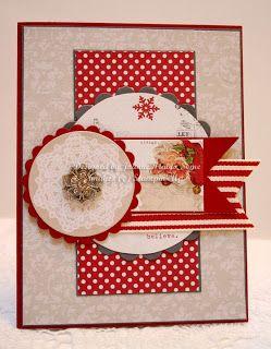 Teresa Collins Santa's List paper handmade Christmas card