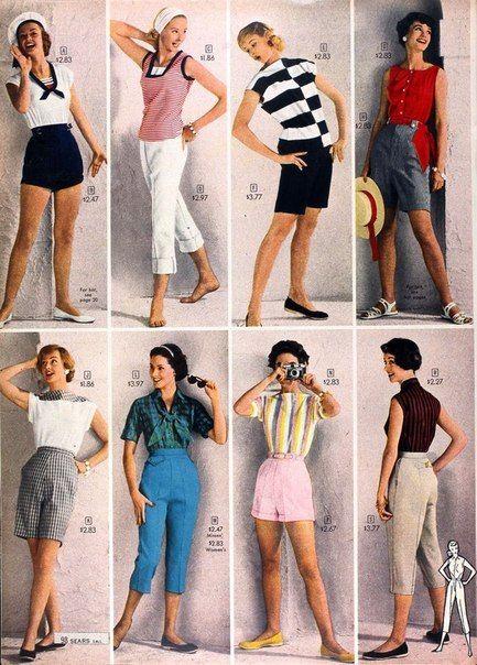 Летняя мода 1958 г. из каталога Sears.