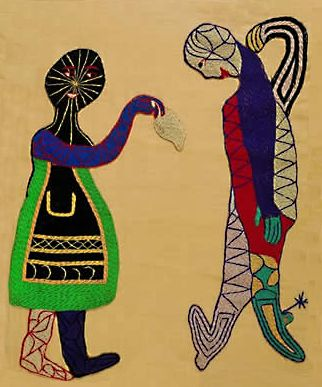 La Cueca, a tapestry (arpillera) by Violeta Parra exhibited at the Louvre.