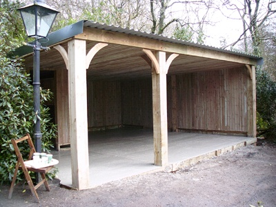 This is probably what ours will end up like.  Google Image Result for http://www.cargarageequipment.co.uk/wp-content/uploads/2012/03/Carports-Garages.jpg