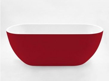 Rosso Freestanding Red Bath