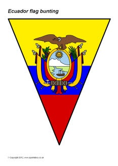 Ecuador flag bunting