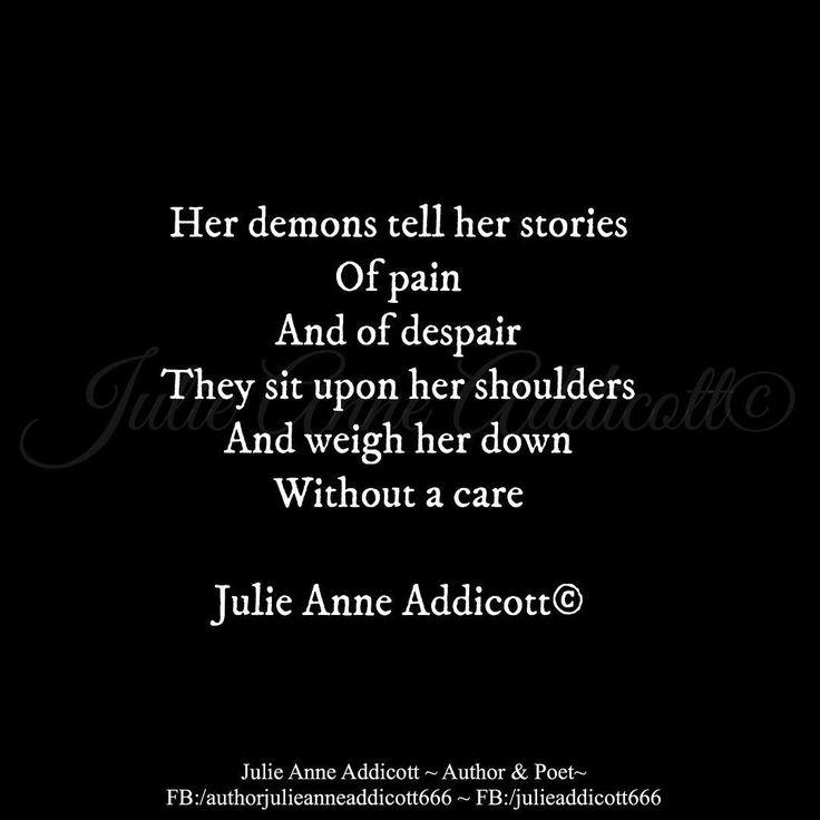 """24 Likes, 1 Comments - Julie Anne Addicott ~ Author (@demonsoulangelheart) on Instagram: """"#author #poet #julieanneaddicott #darkpoetry #love #loss #heartache #pain #wheremydemonshide…"""""""