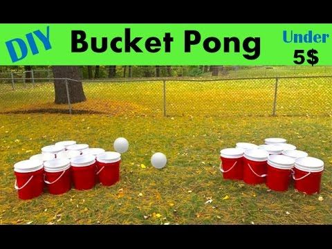 How to build Giant Beer Pong--BUCKET PONG