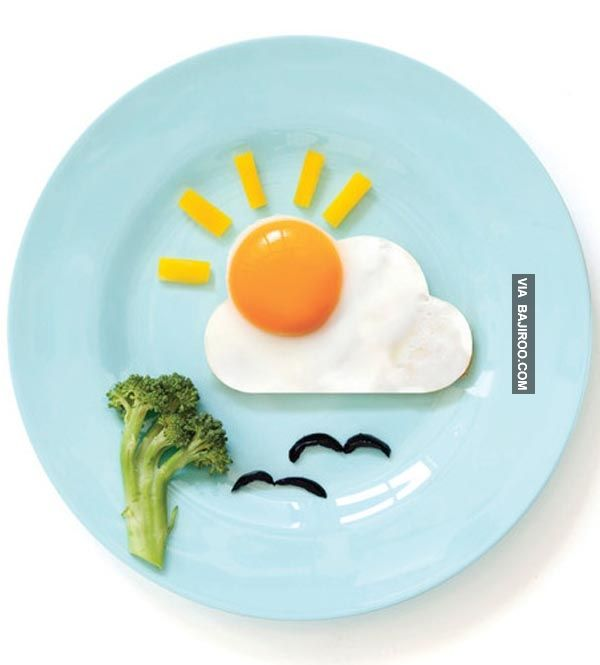 creative egg plate food art Funny food art