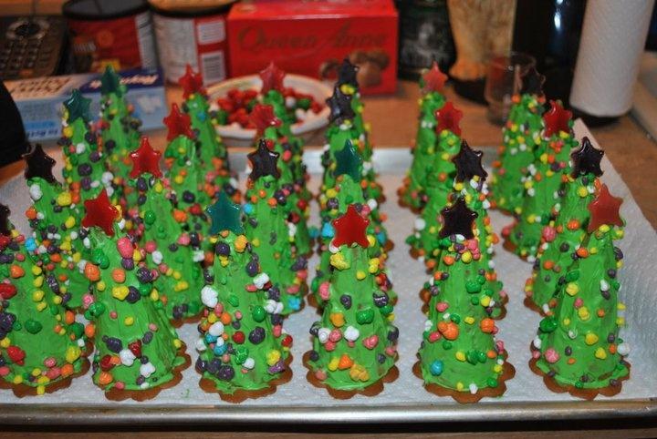 Christmas Tree Craft Ice Cream Cone : Ice cream cone christmas trees