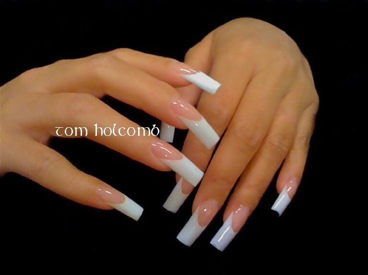 Long White Tip Nails | Best Nail Designs 2018