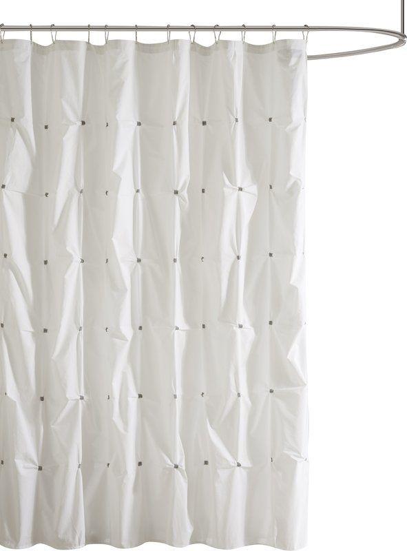 Ellesmere Port Cotton Single Shower Curtain Gray Shower Curtains