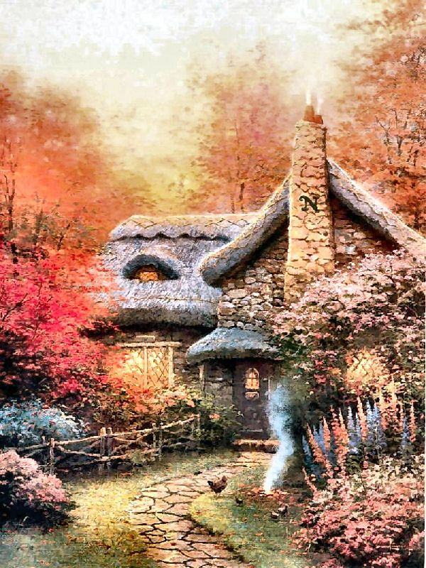 380 best images about Art: Charming Castles & Cottages on ... - photo#7