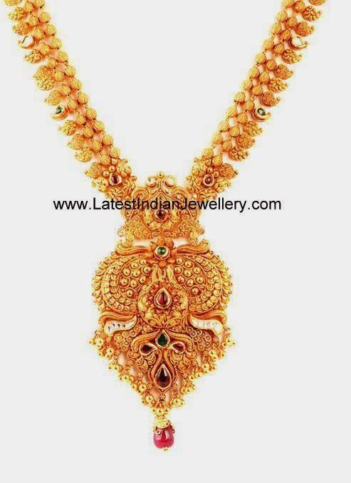 Mango Design Gold Haram