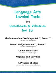 Celebrate the magic of love with five romantic tales in this text set, including classic mythology and two Shakespearean favorites. Texts are written at four levels to differentiate instruction. #differentiation #reading Reading Levels: 2.0 - 6.7