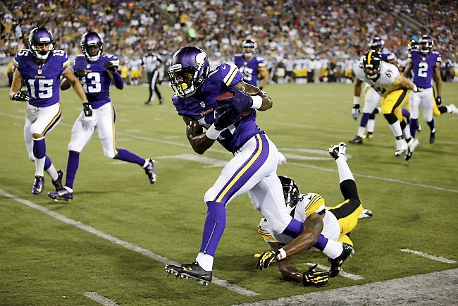 Vikings 14, Steelers 3: Stefon Diggs steals show as Minnesota wins ...