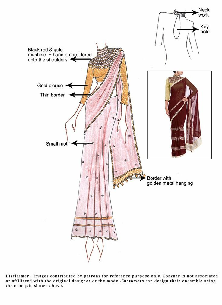 #DIY Brown #Georgette #Saree