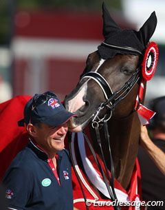 Valegro and Alan Davies.I love seeing pictures like this, can you feel the love and happiness.