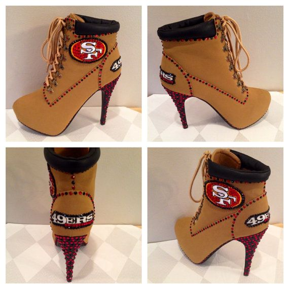 Hey, I found this really awesome Etsy listing at https://www.etsy.com/listing/183699823/custom-heels-49ers-heels-san-francisco