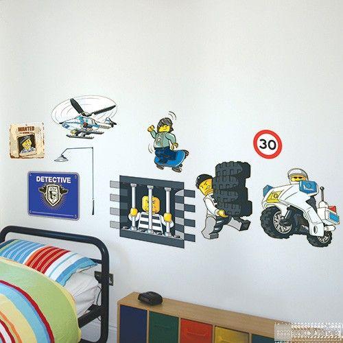 LEGO® City Muurstickers Politie (grootverpakking) - BRICKexclusive LEGO®