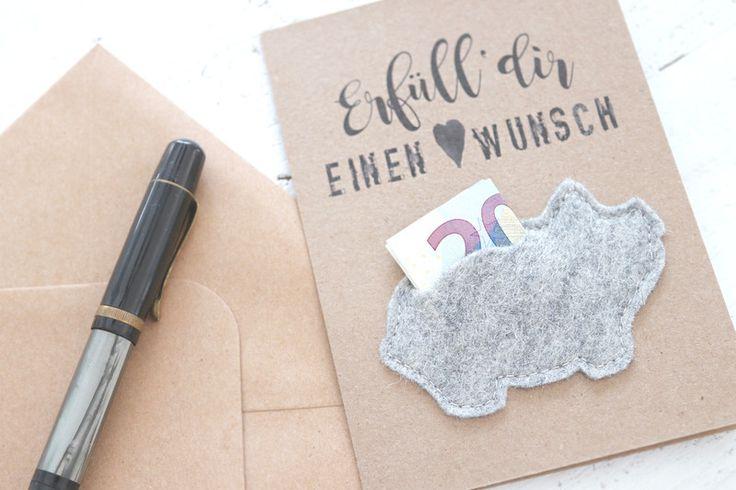 Gutscheine - Wunscherfüller Natur Karten Set2 für Geldgeschenke - ein Designerstück von snuggles-cottage bei DaWanda Geldgeschenk - Geburtstagskarte - Geld schenken - Taufkarte - Taufgeschenk - Hochzeitsgeschenk - Geschenkidee - Geburtstag
