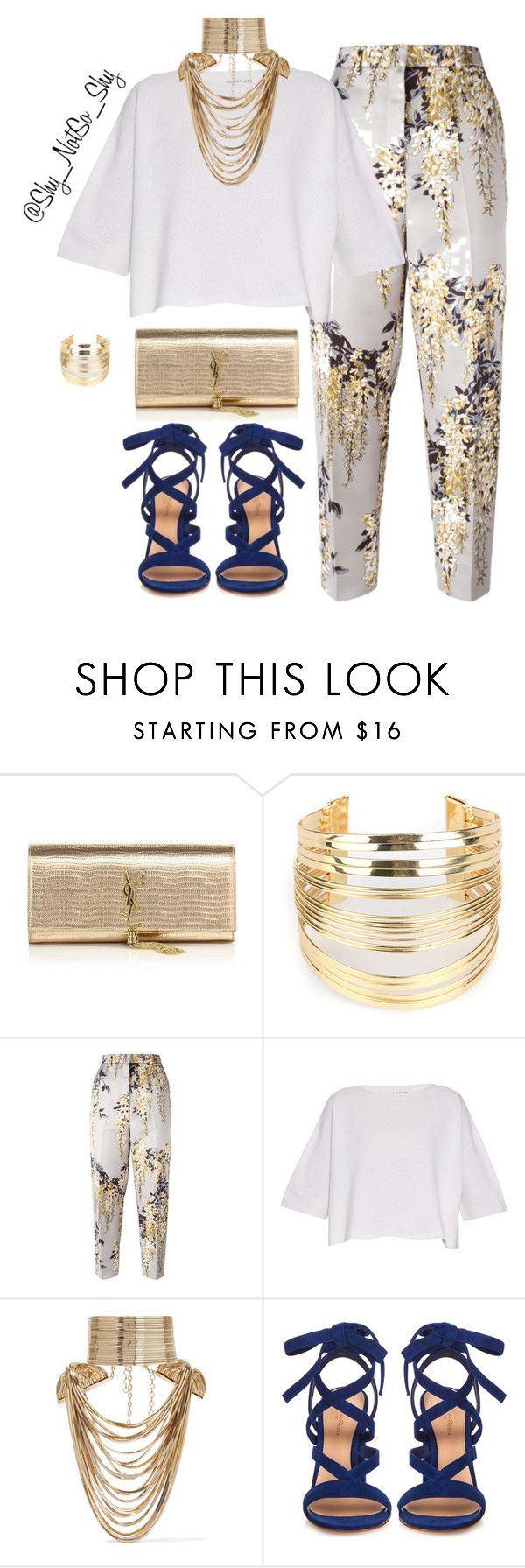 Spring/Summer by addoz on Polyvore featuring Helmut Lang, Rochas, Gianvito Rossi, Yves Saint Laurent, Rosantica, WithChic, women's clothing, women's fashion, women and female