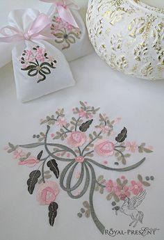 Machine Embroidery Design Flower bouquet (3 in 1) – Tamouhsouad