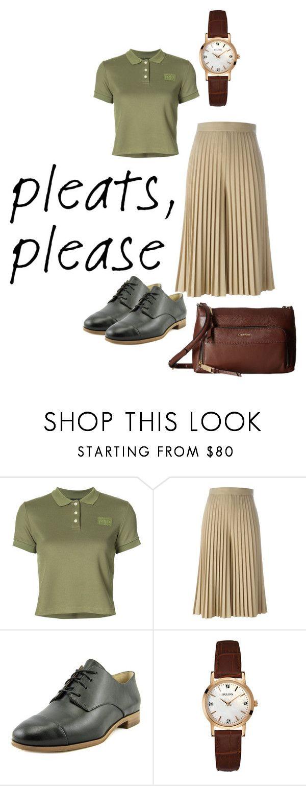 """pleats"" by shafirapramesi ❤ liked on Polyvore featuring Puma, Givenchy, MICHAEL Michael Kors, Bulova, Calvin Klein and pleats"